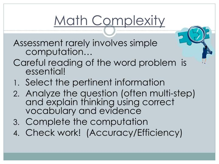 Math Complexity