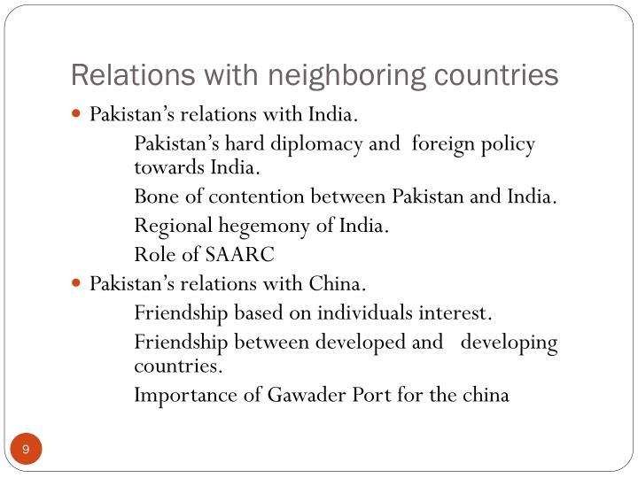 a review of americas foreign policy with neighboring countries Between foreign and domestic policy and review the answers as a foreign policy teacher's guide towards other countries the main goals of our foreign policy.