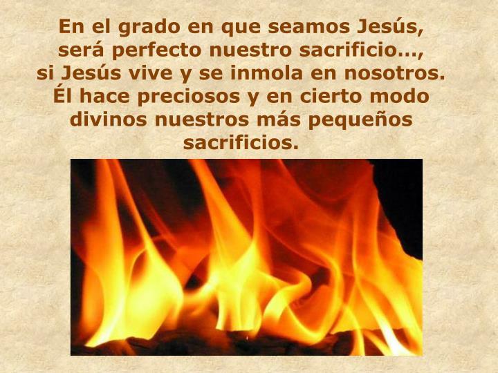 En el grado en que seamos Jesús,