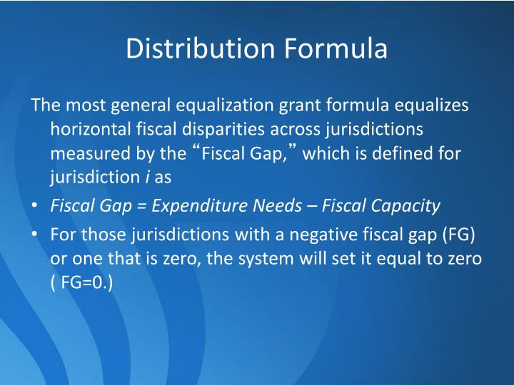 Distribution Formula
