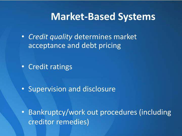 Market-Based Systems
