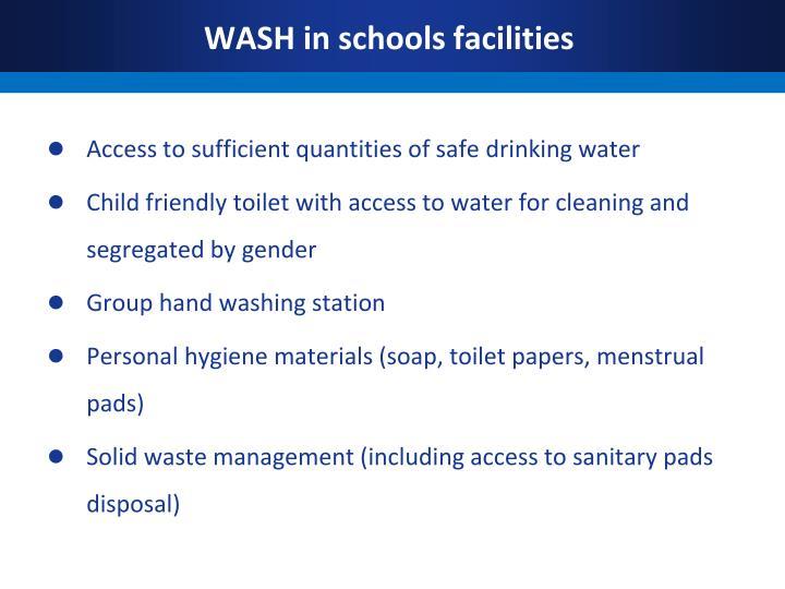 WASH in schools facilities