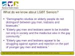what do we know about lgbt seniors