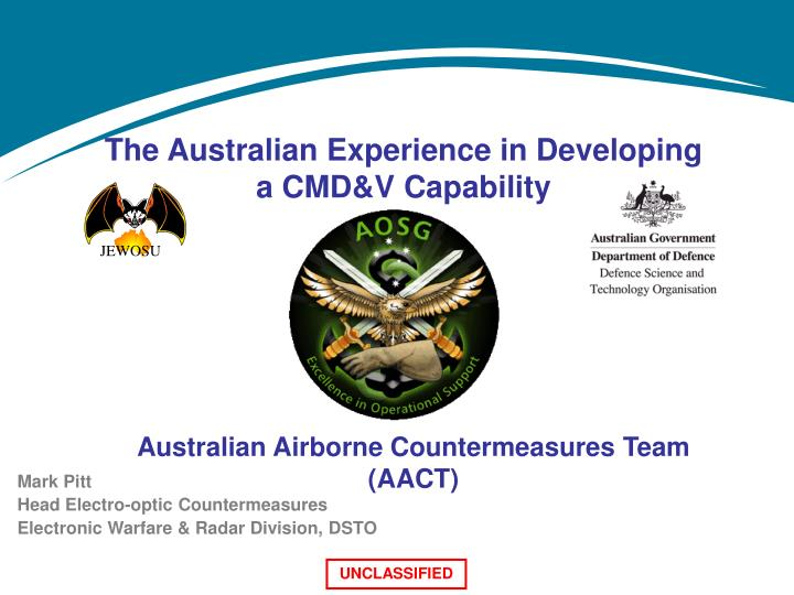 the australian experience in developing a cmd v capability n.