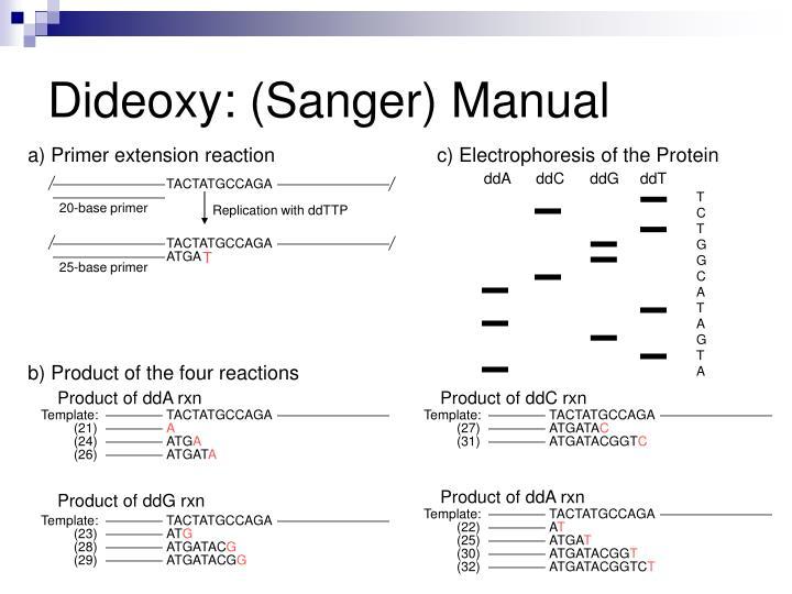 Dideoxy: (Sanger) Manual