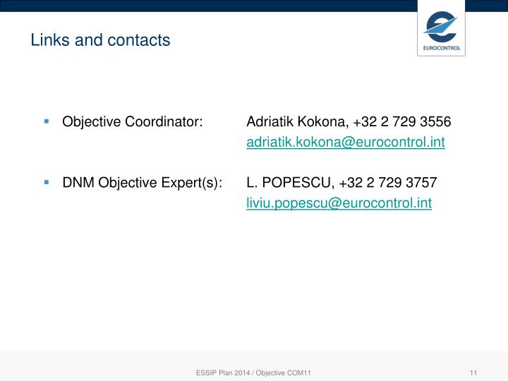 Links and contacts