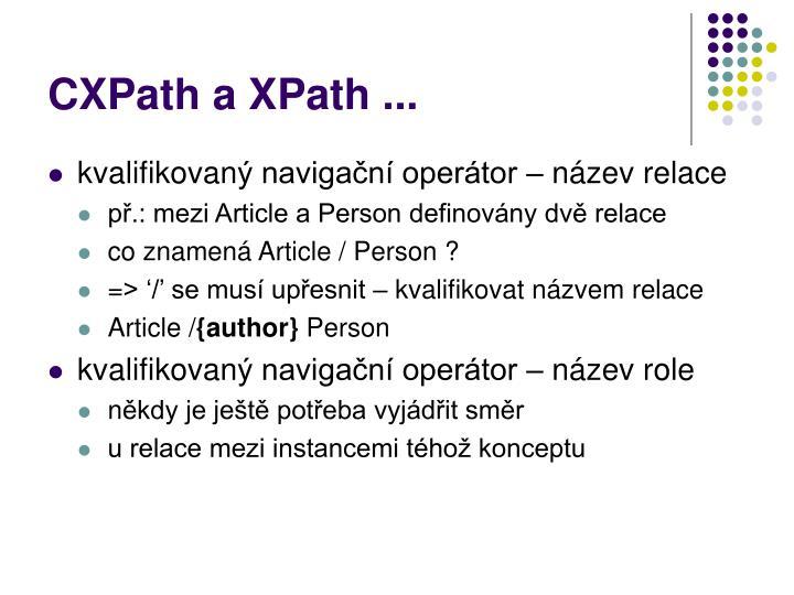 CXPath a XPath ...