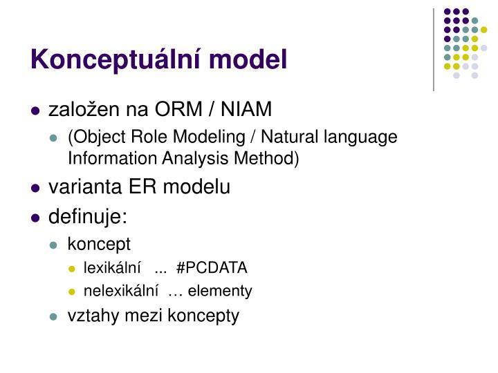 Konceptuální model
