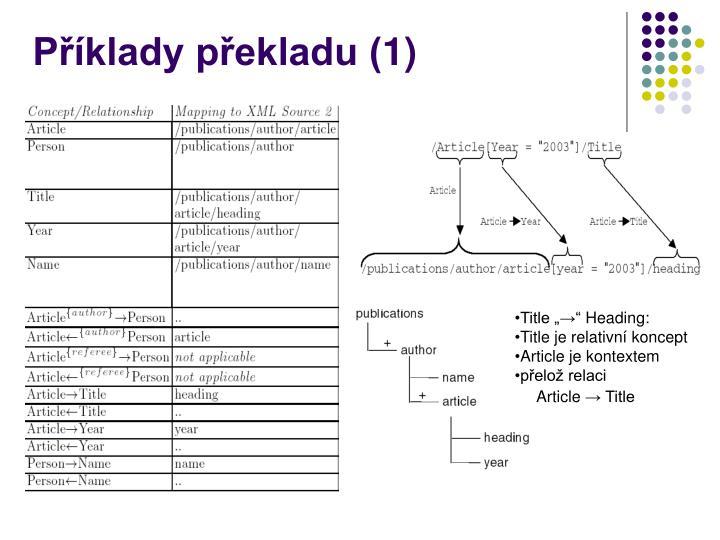Příklady překladu (1)