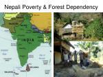 nepali poverty forest dependency