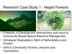 research case study 1 nepali forestry