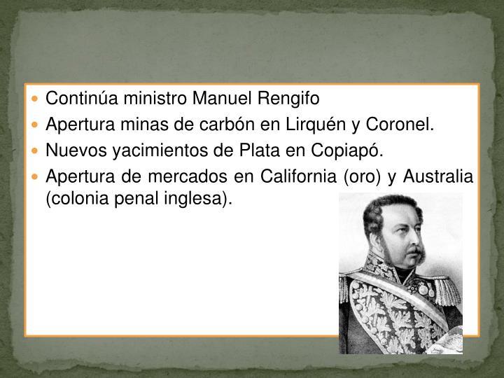 Continúa ministro Manuel Rengifo