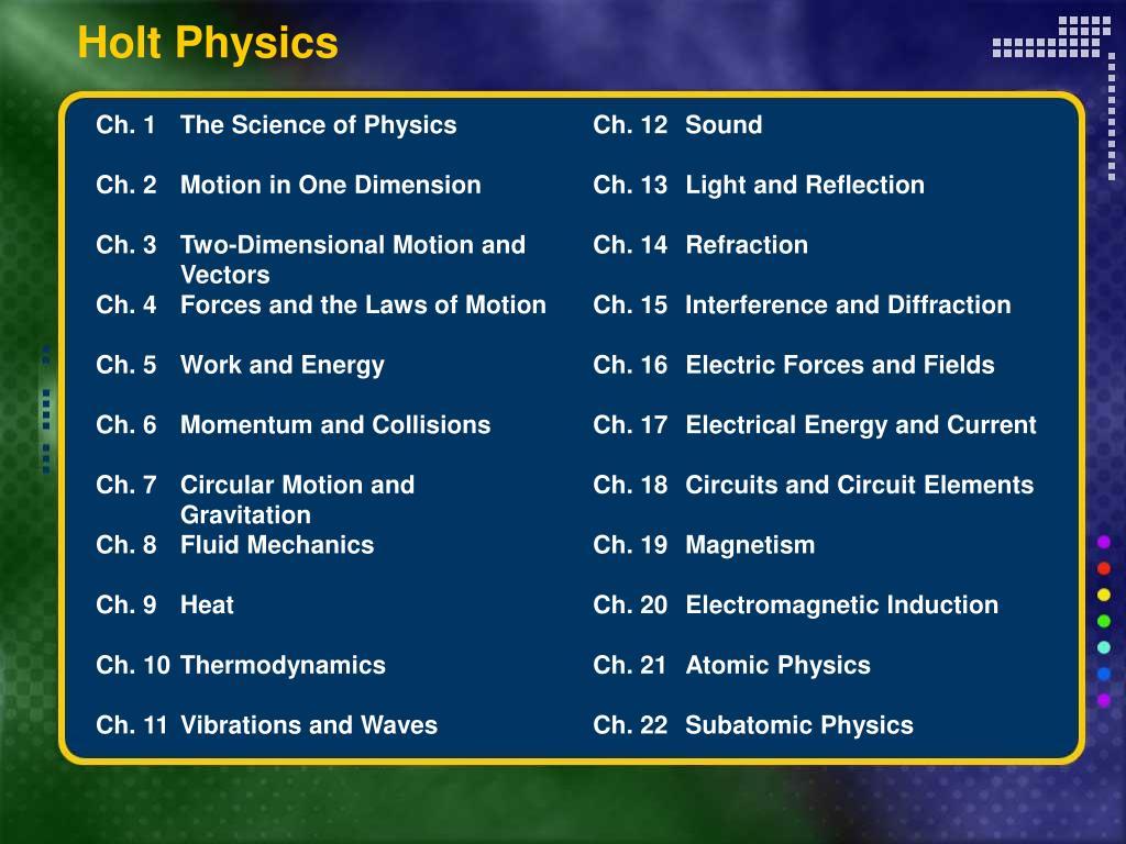 Wiring Diagram Database  Holt Physics Diagram Skills Answers