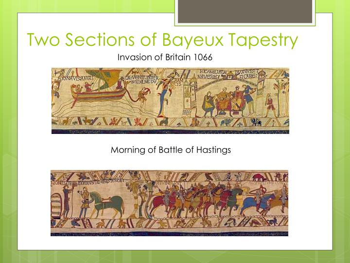 Two Sections of Bayeux Tapestry
