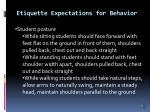 etiquette expectations for behavior6