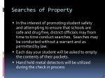 searches of property