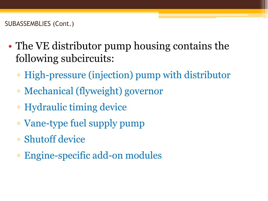 PPT - Sleeve-Metering Rotary Distributor Pumps Chapter 24