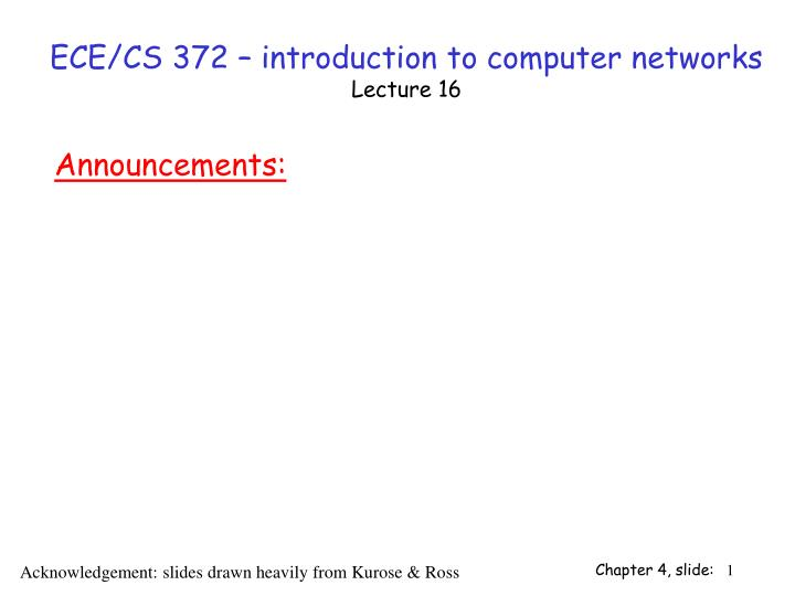 Ece cs 372 introduction to computer networks lecture 16