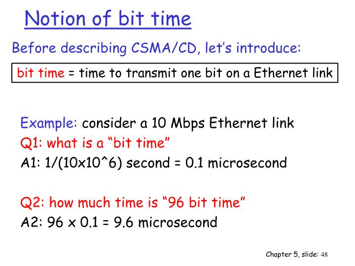 Notion of bit time