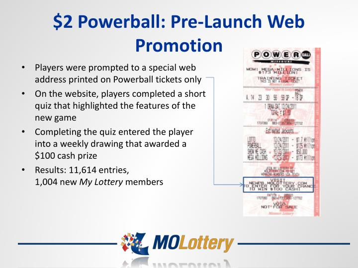 $2 Powerball: Pre-Launch Web Promotion