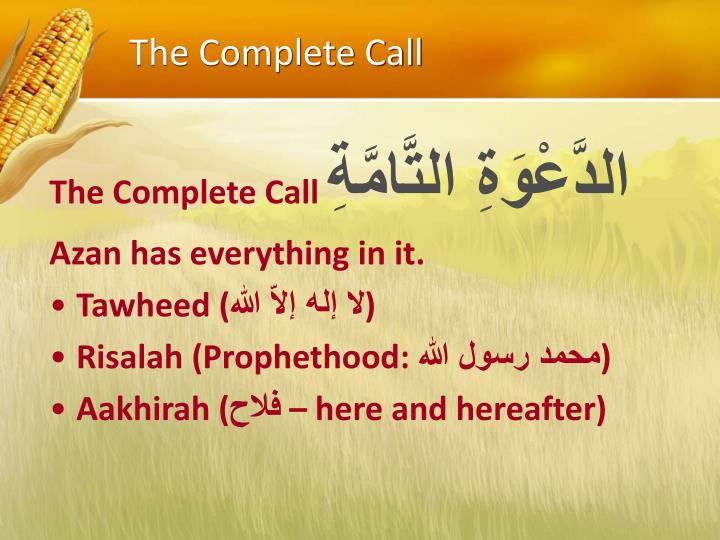 The Complete Call