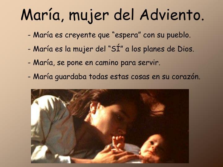 María, mujer del Adviento.
