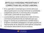 art culo 9 medidas preventivas y correctivas del acoso laboral