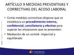art culo 9 medidas preventivas y correctivas del acoso laboral1