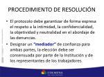 procedimiento de resoluci n