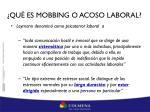 qu es mobbing o acoso laboral