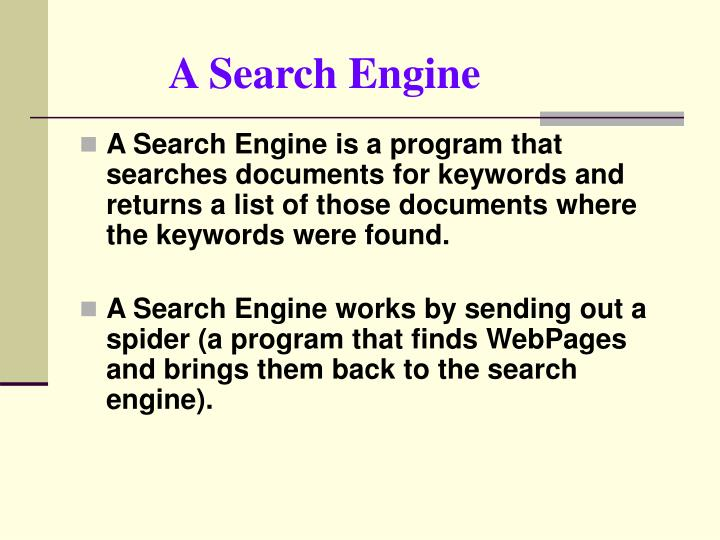 A Search Engine