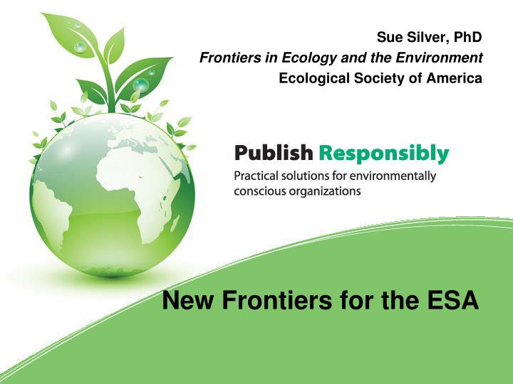 sue silver phd frontiers in ecology and the environment ecological society of america n.