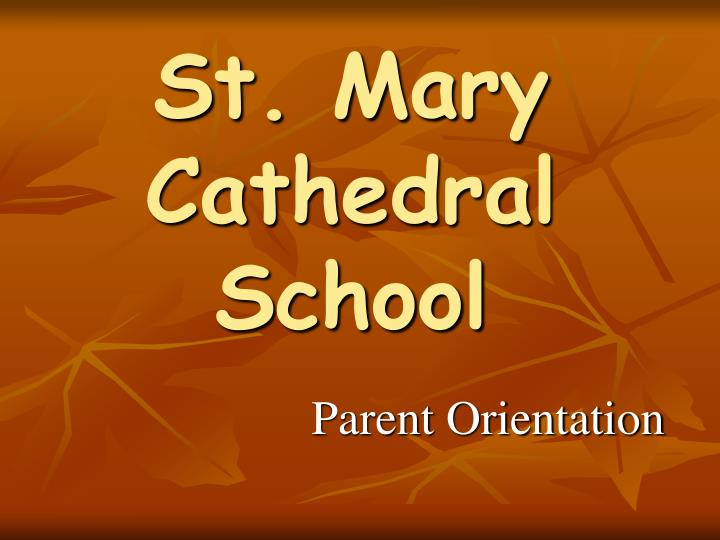 St mary cathedral school