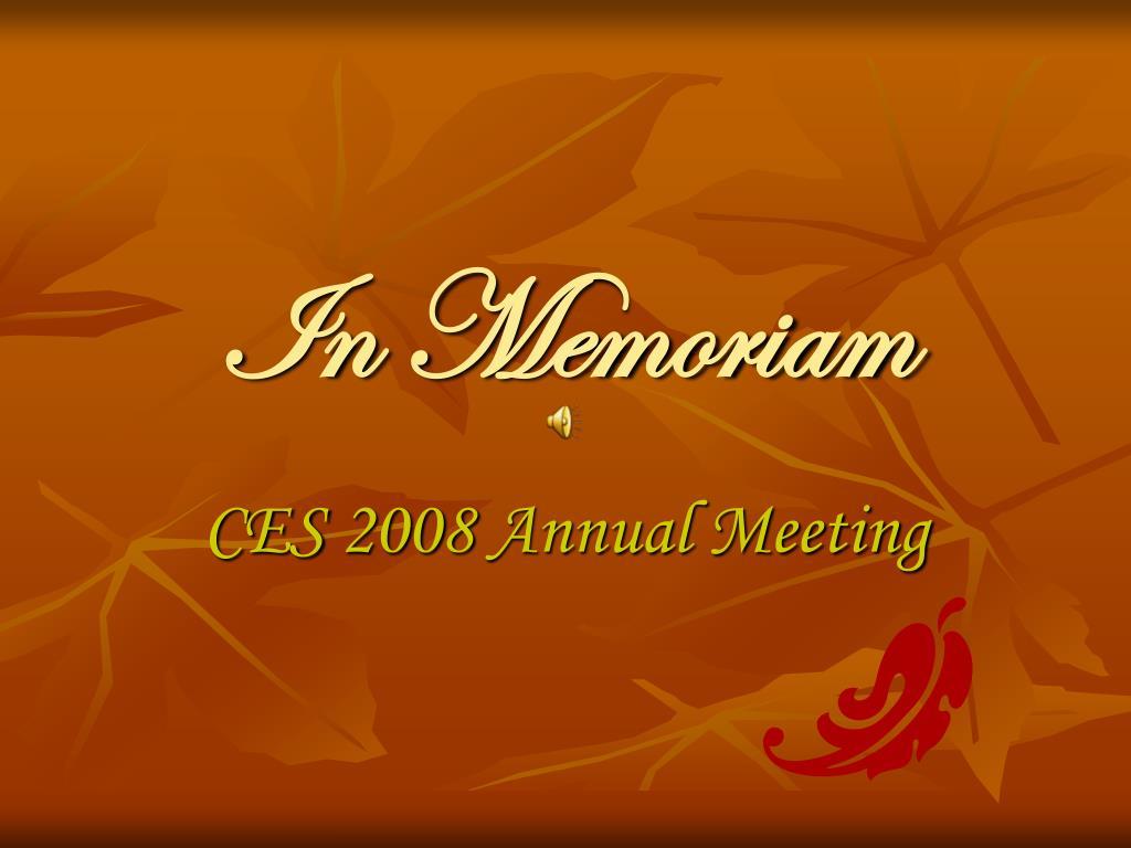 ppt in memoriam powerpoint presentation id 5249610
