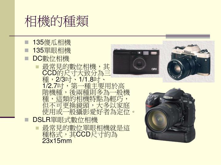 相機的種類
