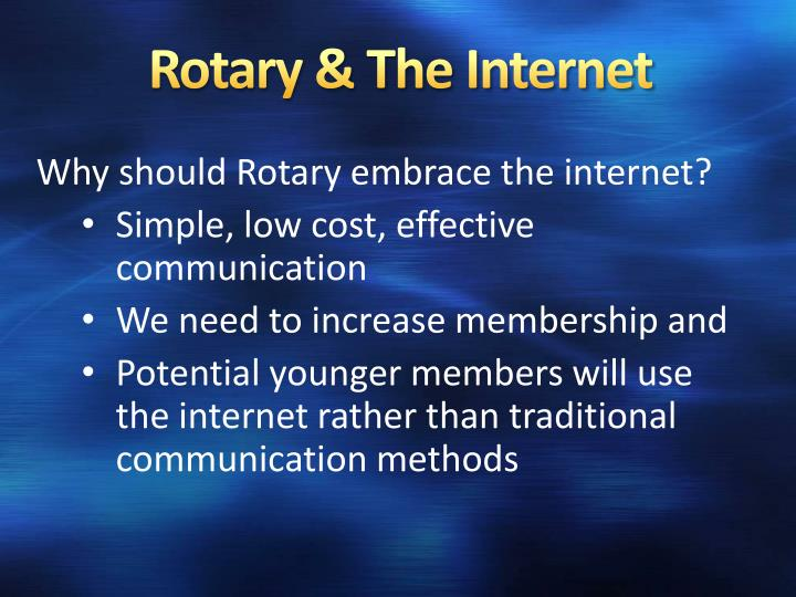 Rotary & The Internet