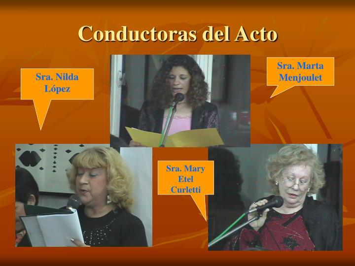 Conductoras del Acto