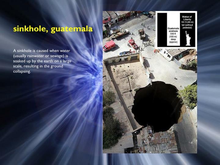sinkhole, guatemala