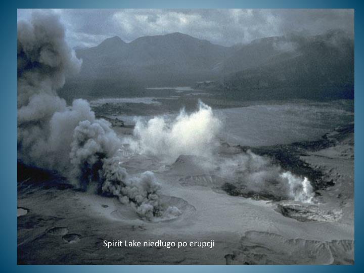 Spirit Lake niedługo po erupcji