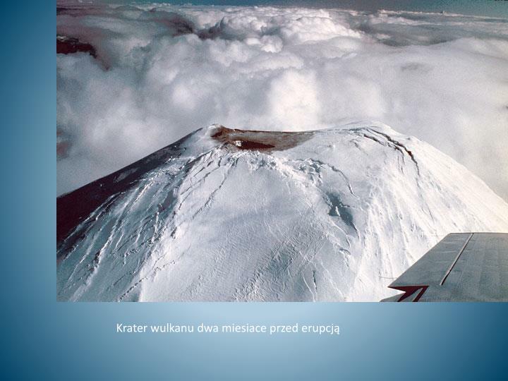 Krater wulkanu dwa miesiace przed erupcją