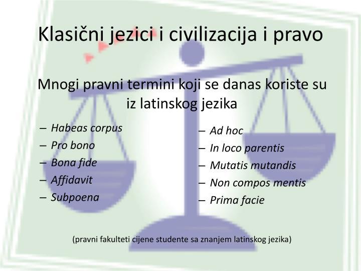 Klasični jezici i civilizacija