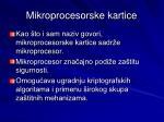 mikroprocesorske kartice