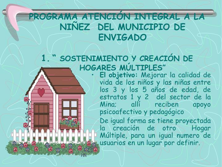 PROGRAMA ATENCIÓN INTEGRAL A LA NIÑEZ  DEL MUNICIPIO DE ENVIGADO