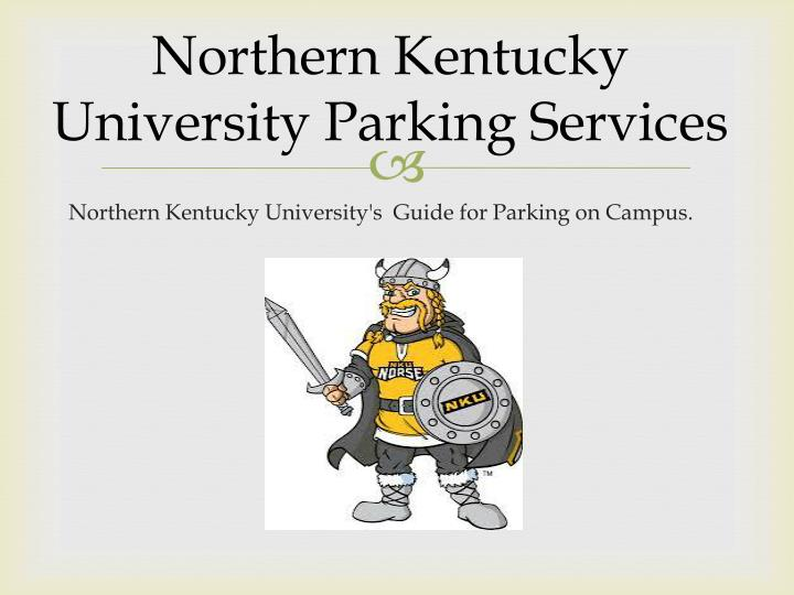 northern k entucky university parking services n.