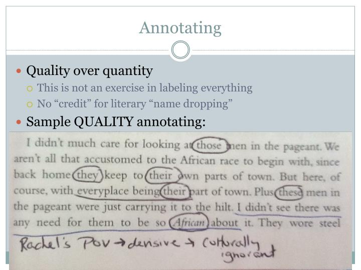 Annotating