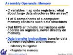 assembly operands memory