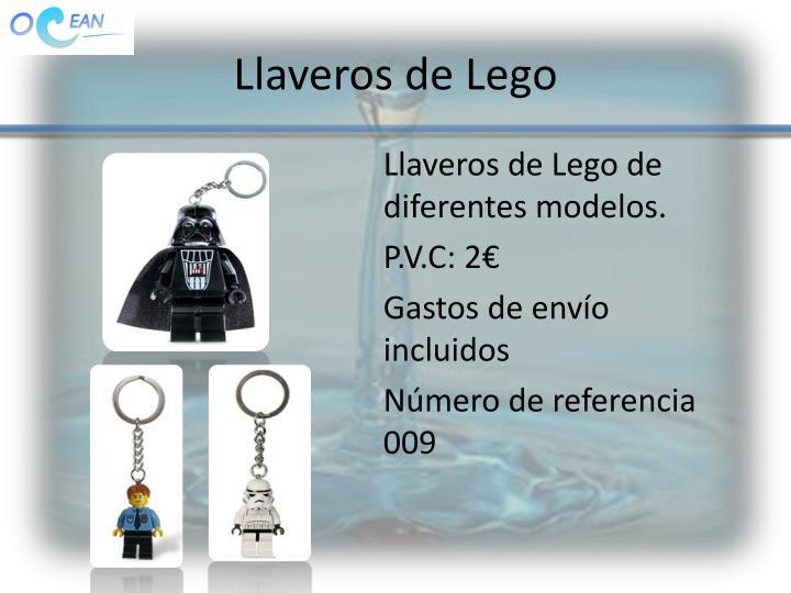 Llaveros de Lego