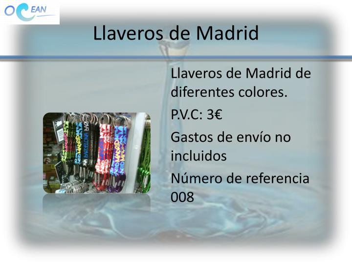 Llaveros de Madrid