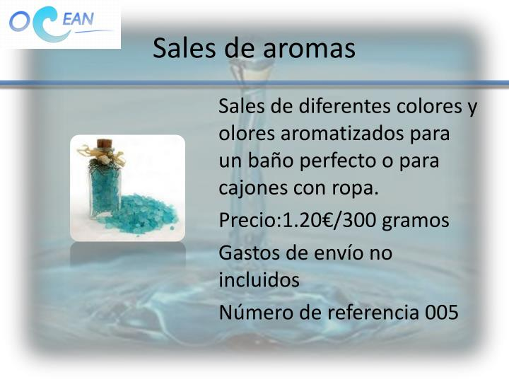 Sales de aromas