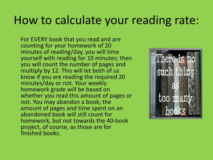How to calculate your reading rate: